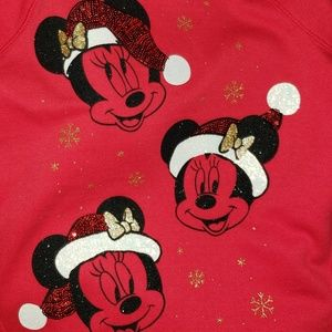DISNEY MINNIE MOUSE HOODED FLEECE PULL OVER